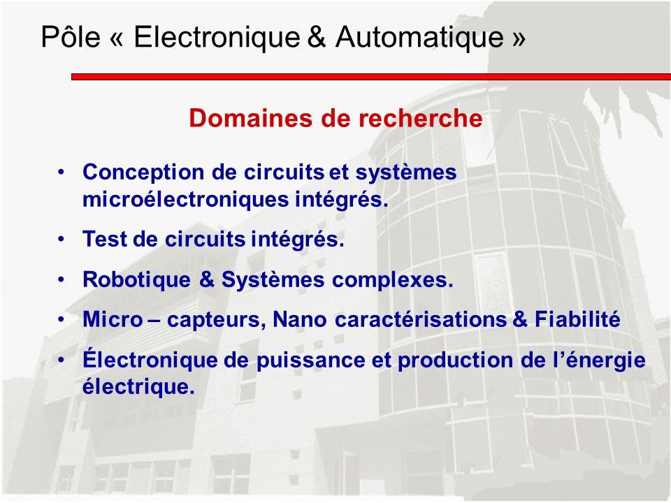 Pôle « Electronique & Automatique »