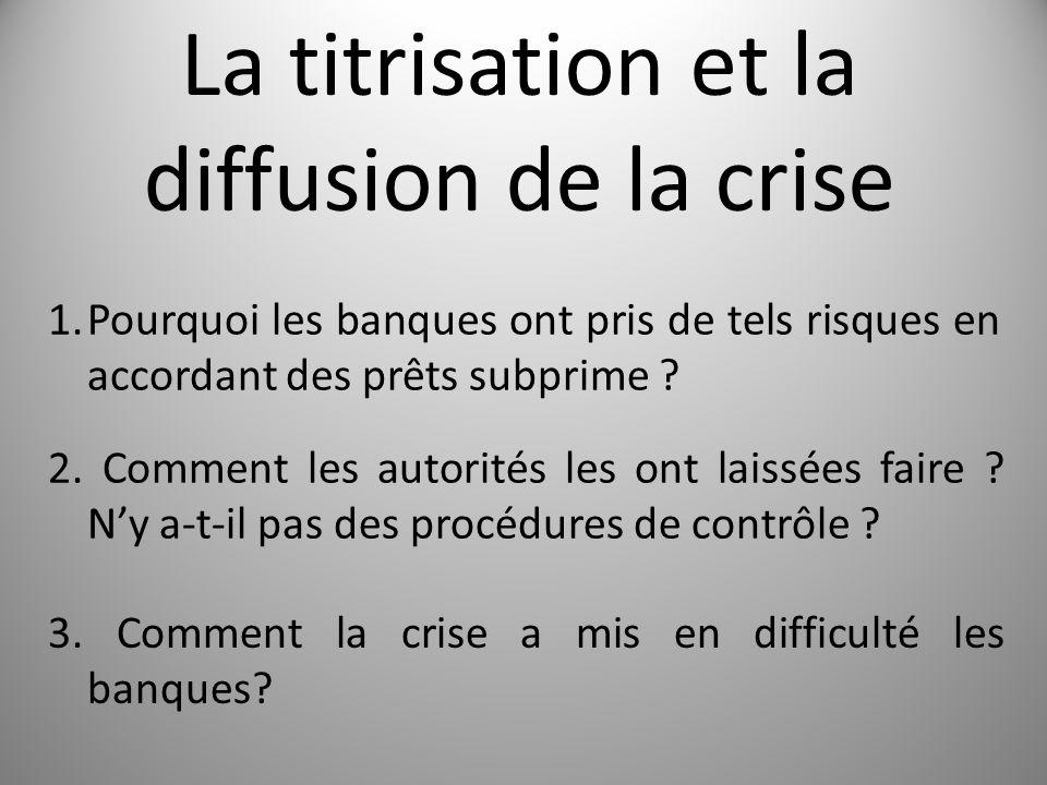 La titrisation et la diffusion de la crise