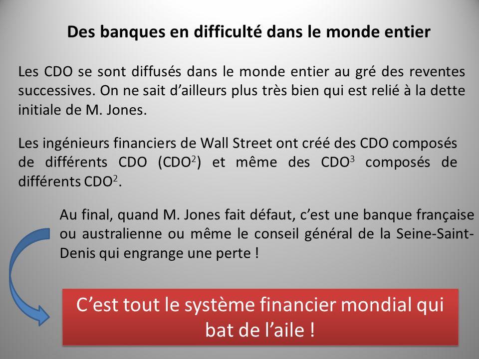 Des banques en difficulté dans le monde entier