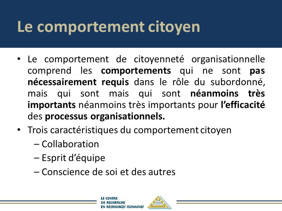 Le comportement citoyen