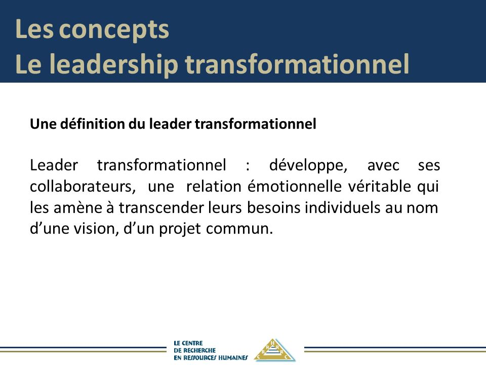 Le leadership transformationnel