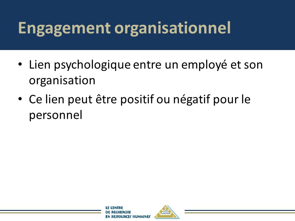 Engagement organisationnel