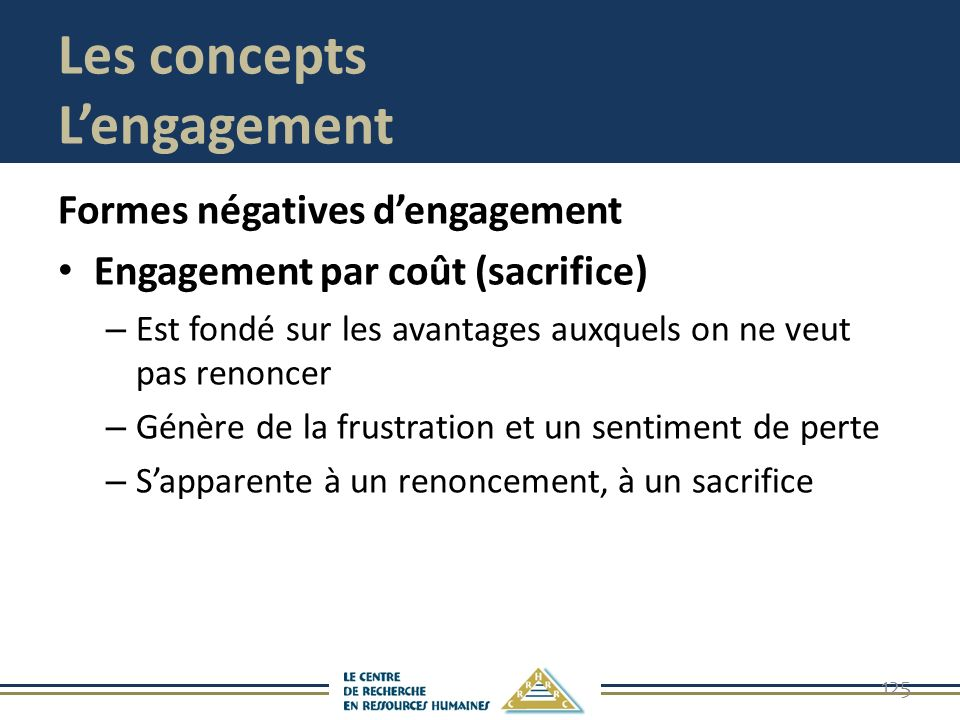 Les concepts L'engagement