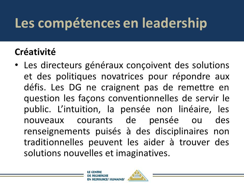 Les compétences en leadership