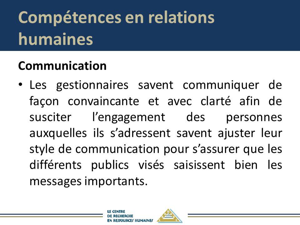 Compétences en relations humaines