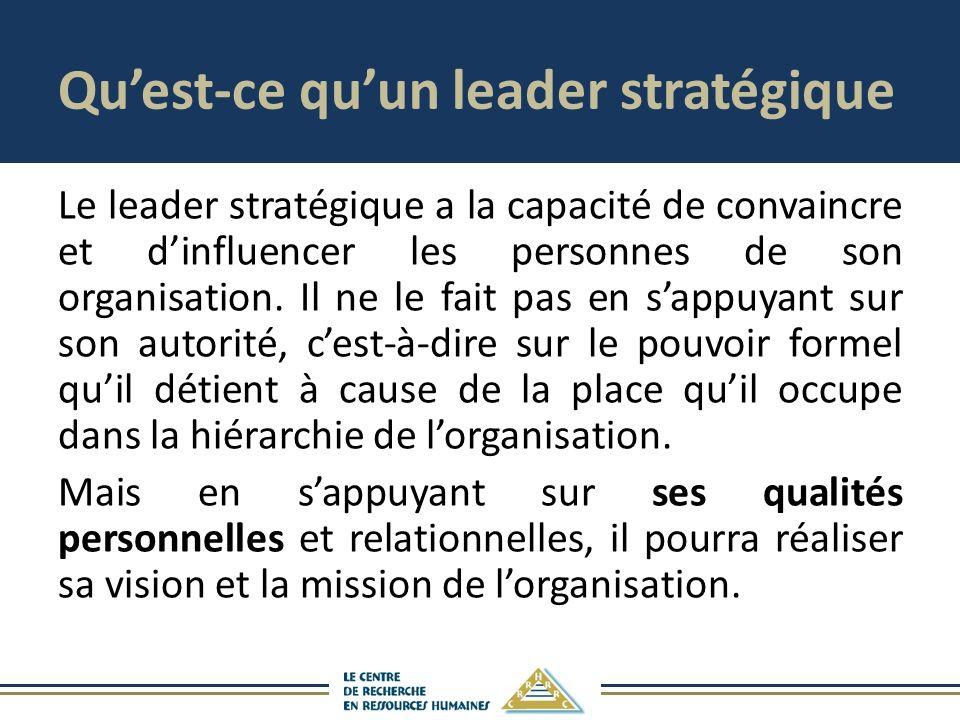 Qu'est-ce qu'un leader stratégique