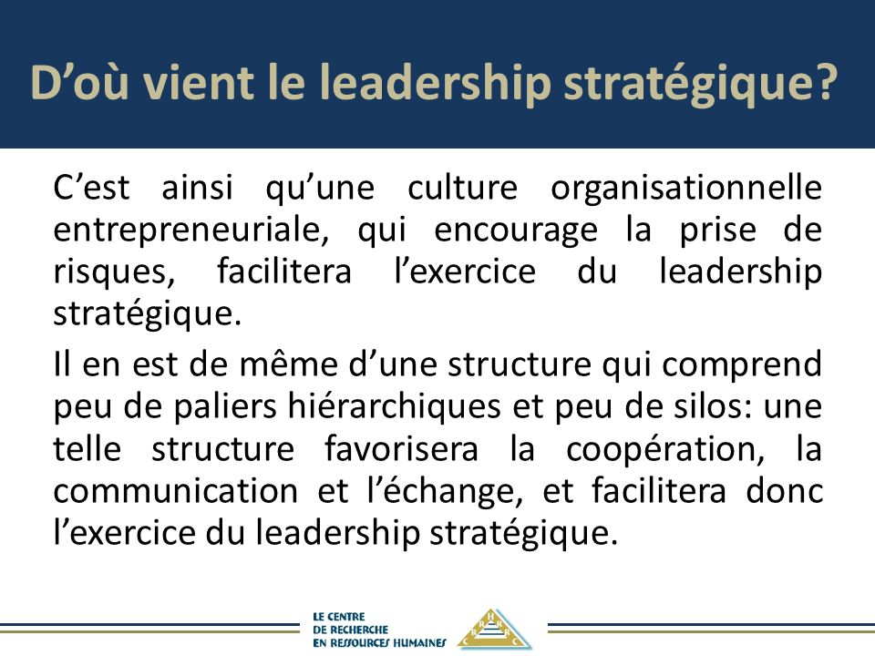 D'où vient le leadership stratégique
