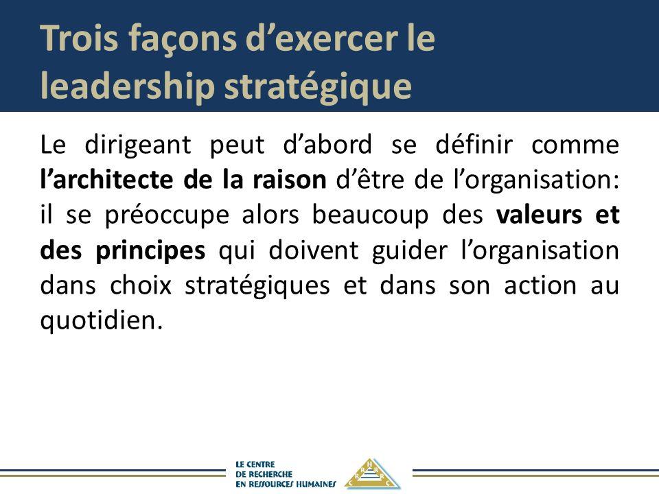 Trois façons d'exercer le leadership stratégique