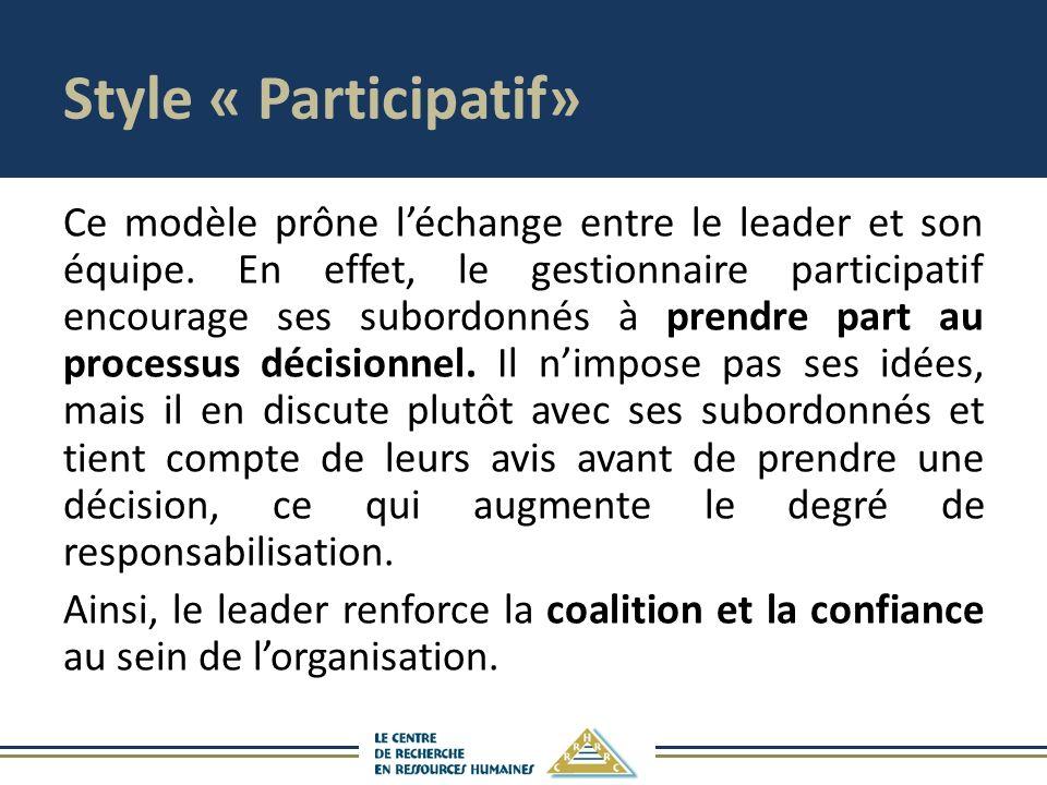 Style « Participatif»