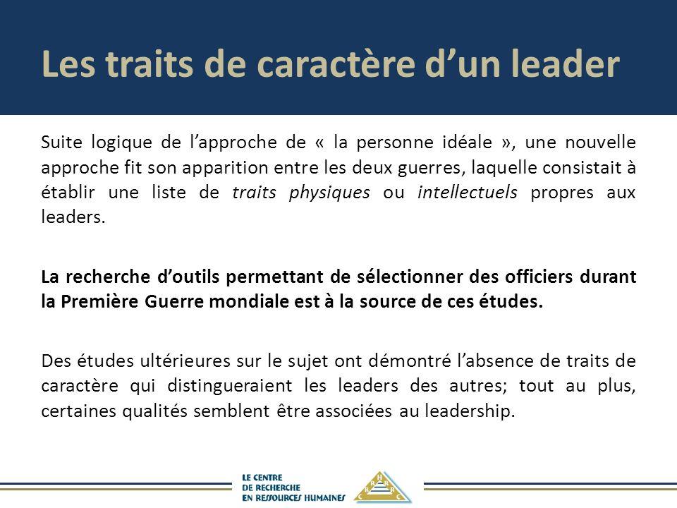 Les traits de caractère d'un leader