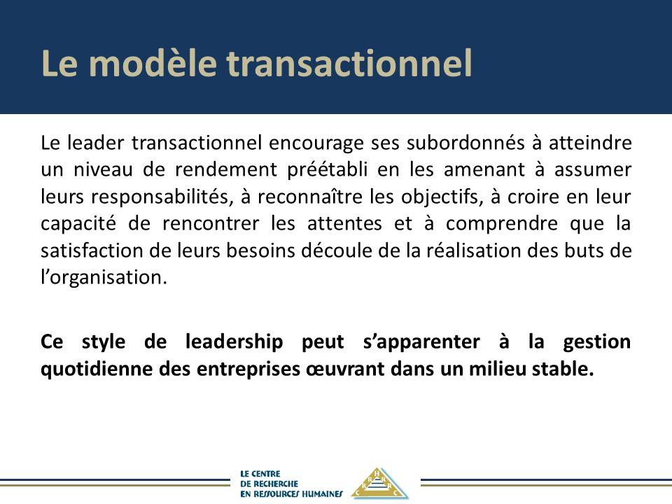 Le modèle transactionnel
