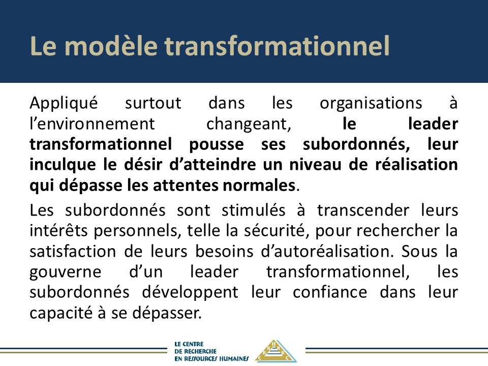 Le modèle transformationnel
