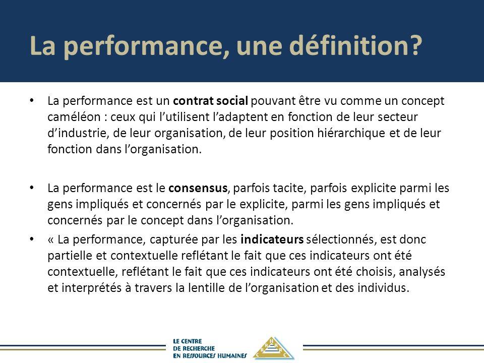 La performance, une définition