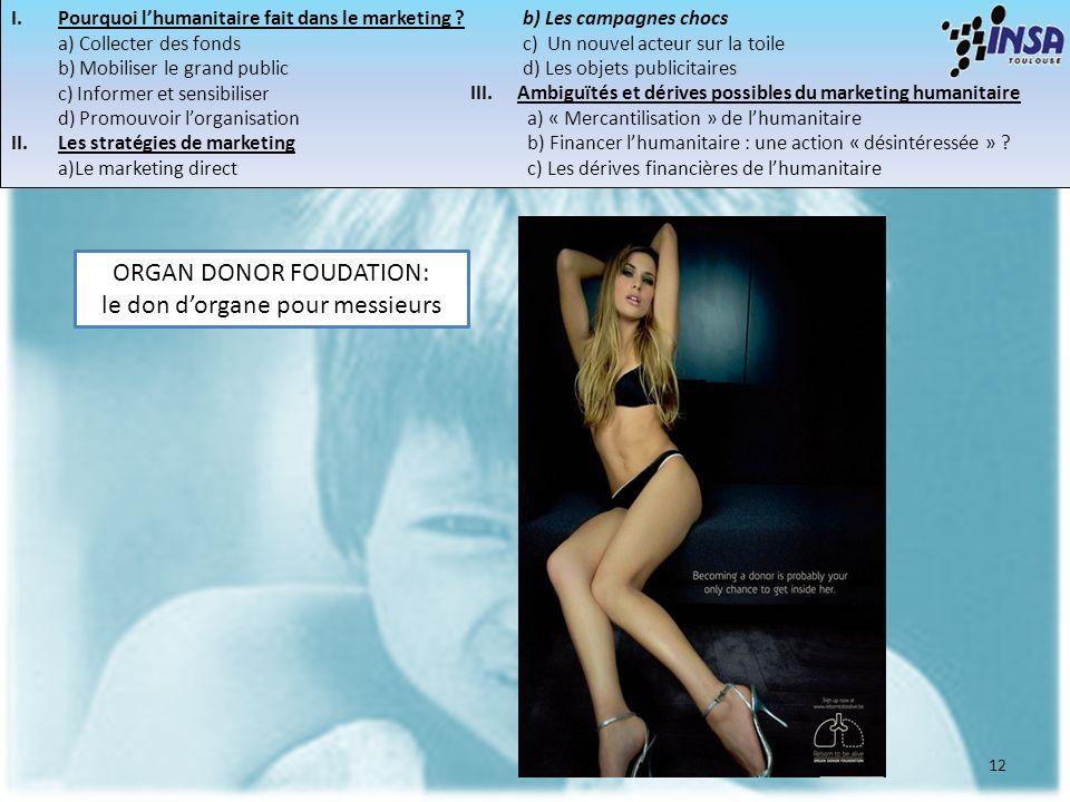 ORGAN DONOR FOUDATION: le don d'organe pour messieurs