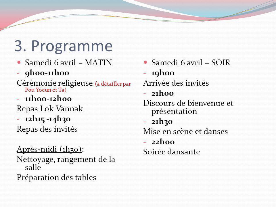 3. Programme Samedi 6 avril – MATIN 9h00-11h00