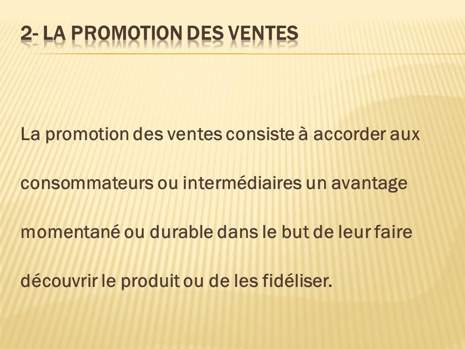 2- LA PROMOTION DES VENTES