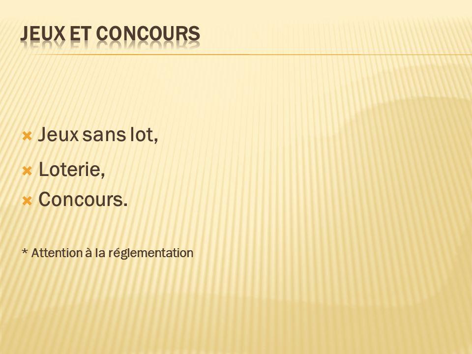 Jeux et Concours Jeux sans lot, Loterie, Concours.