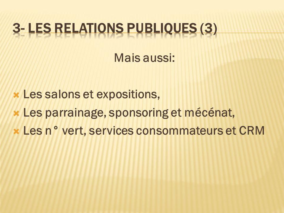 3- LES RELATIONS PUBLIQUES (3)