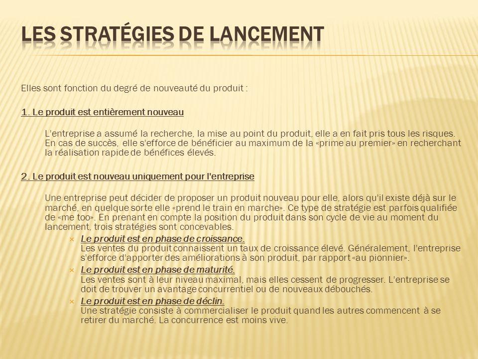 Les stratégies de lancement