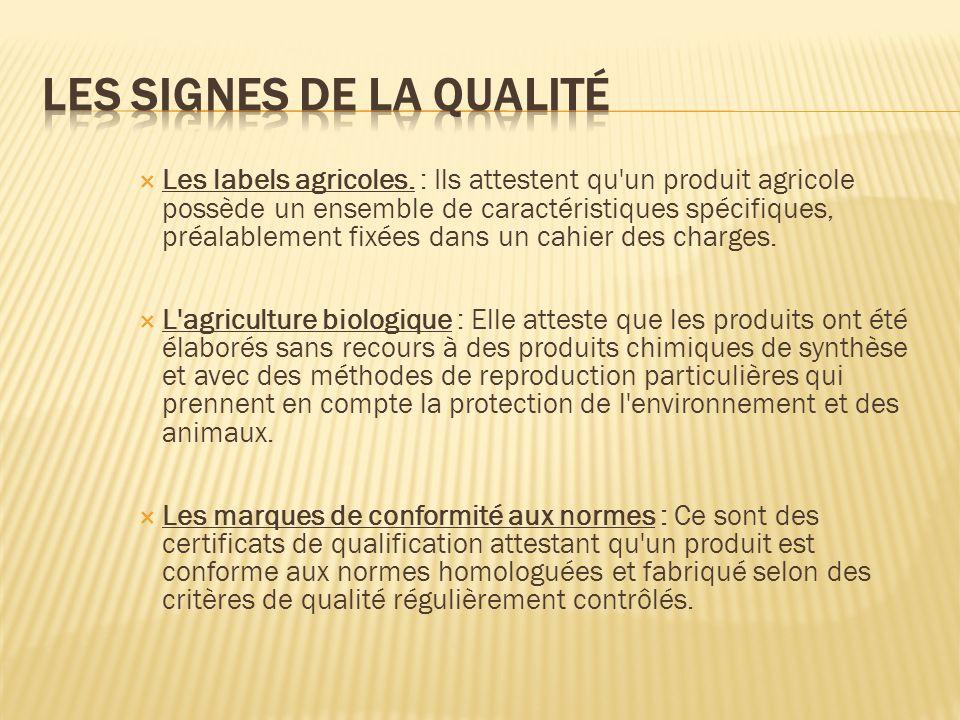 Les signes de la qualité