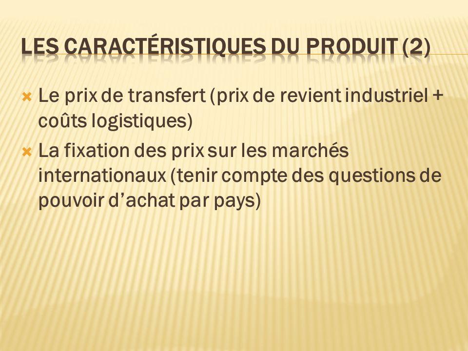 Les caractéristiques du produit (2)