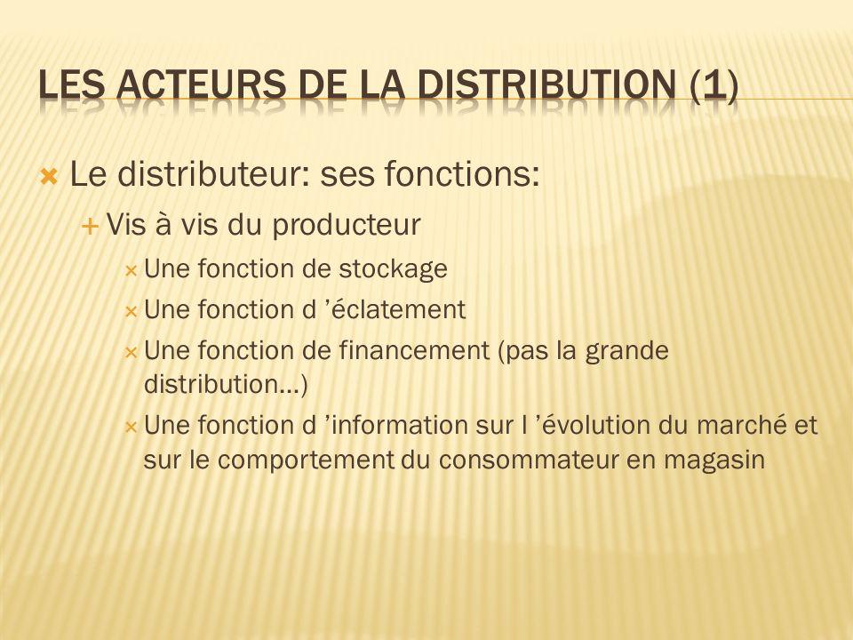 Les acteurs de la distribution (1)