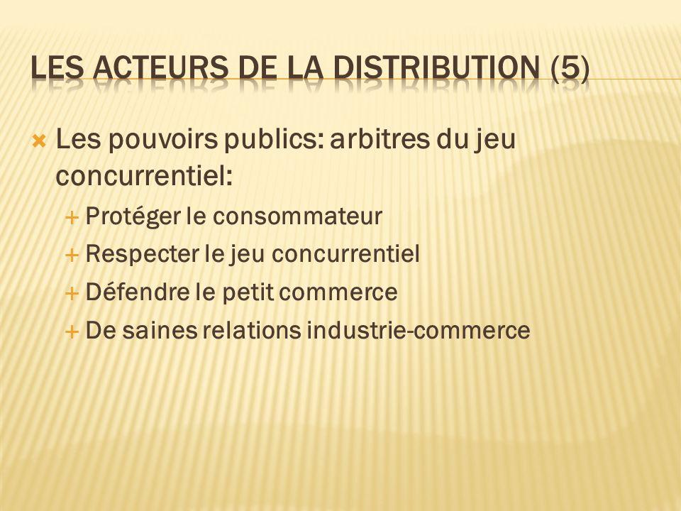 Les acteurs de la distribution (5)