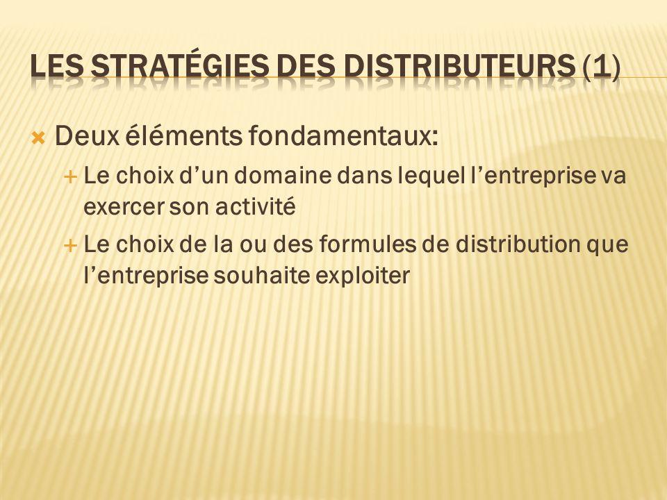 Les stratégies des distributeurs (1)
