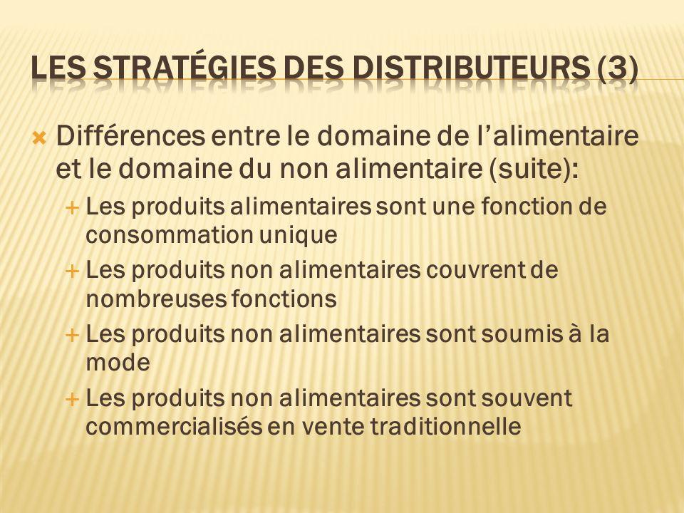 Les stratégies des distributeurs (3)