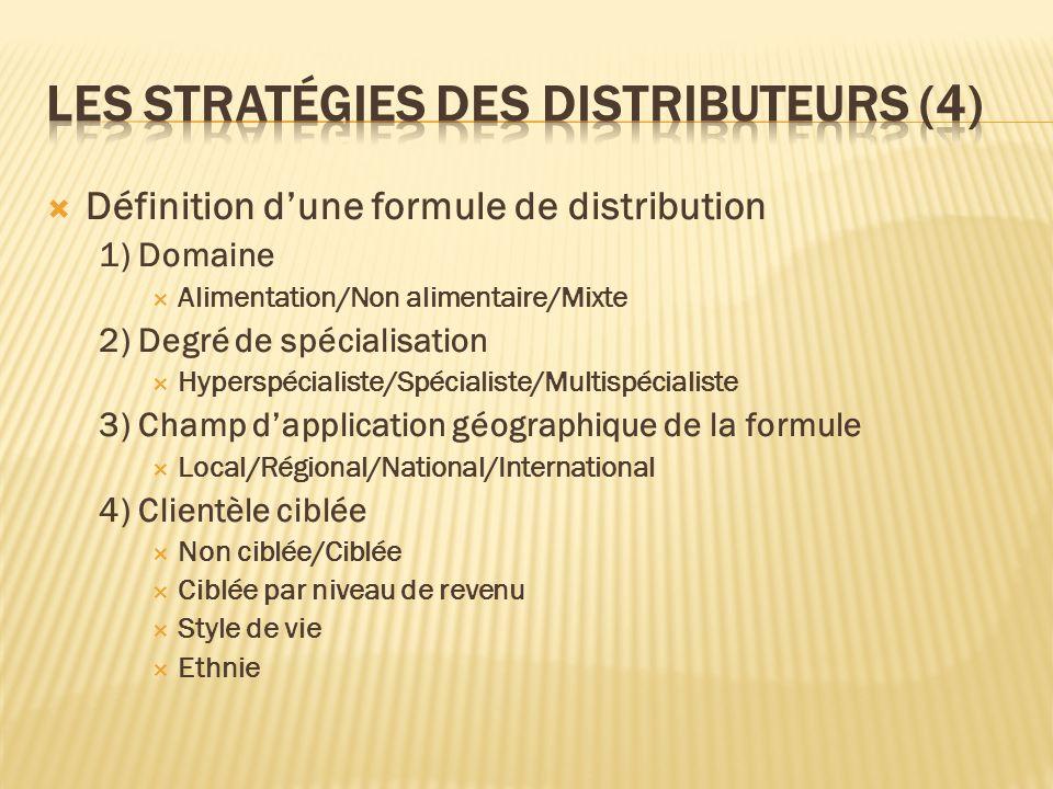 Les stratégies des distributeurs (4)