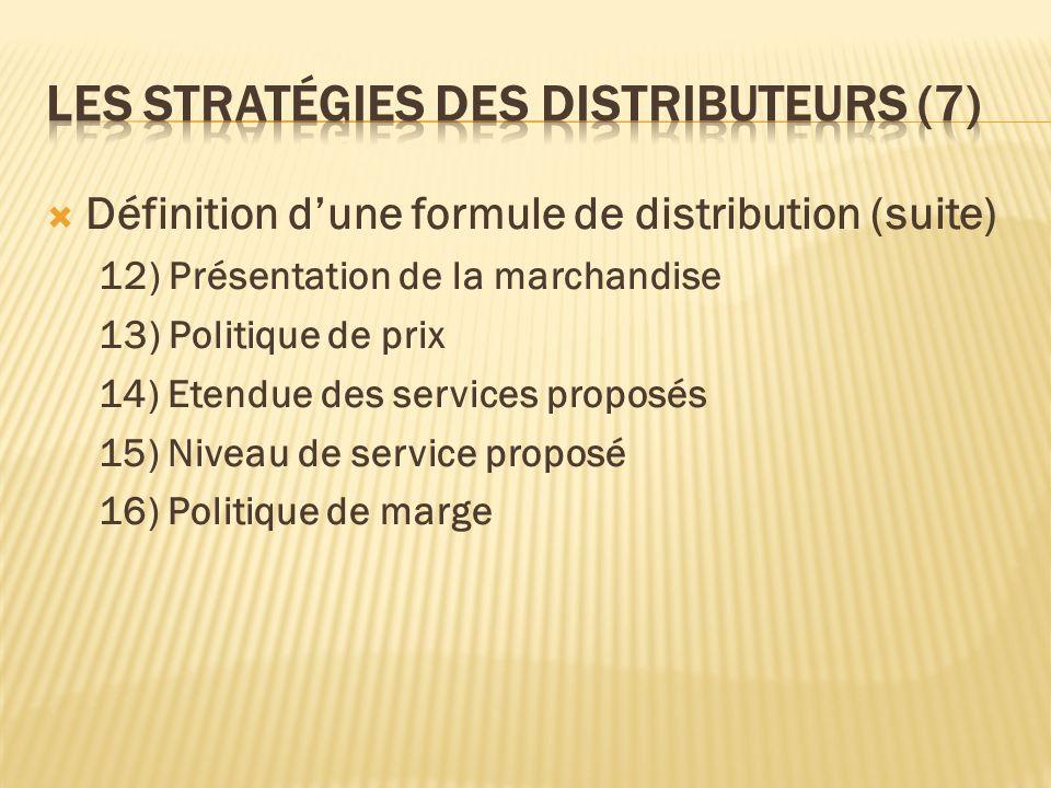 Les stratégies des distributeurs (7)