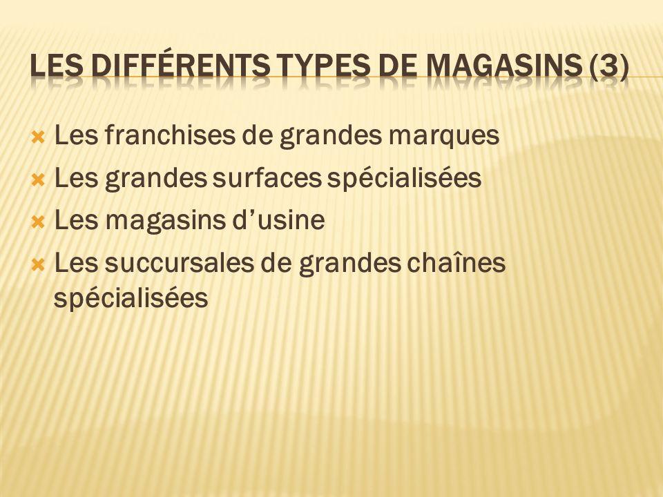 Les différents types de magasins (3)