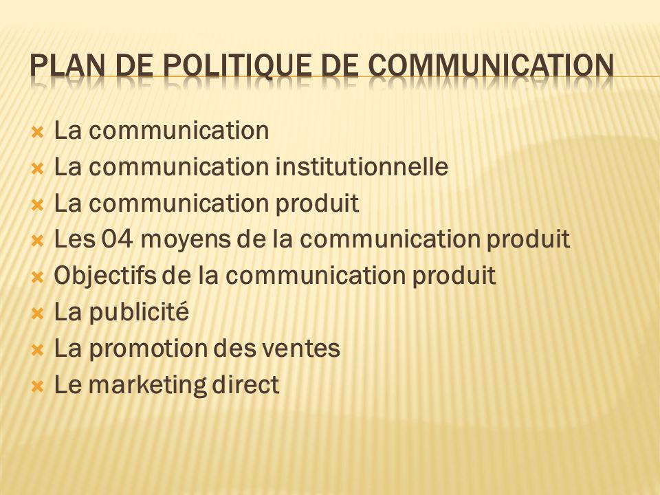 Plan de politique de communication