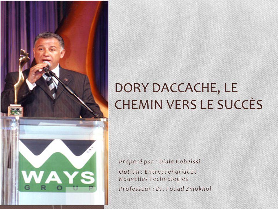 Dory Daccache, le chemin vers le succès