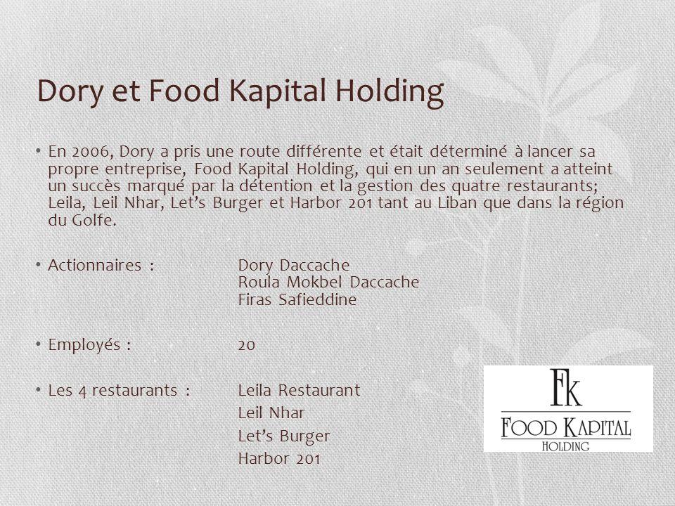 Dory et Food Kapital Holding