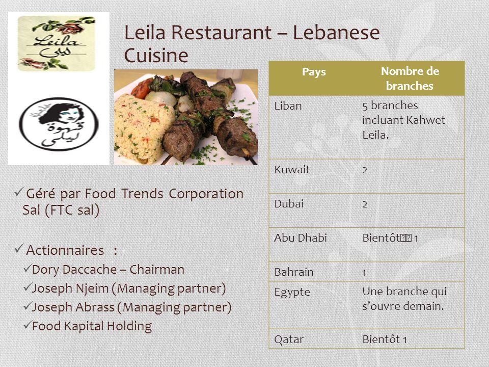Leila Restaurant – Lebanese Cuisine