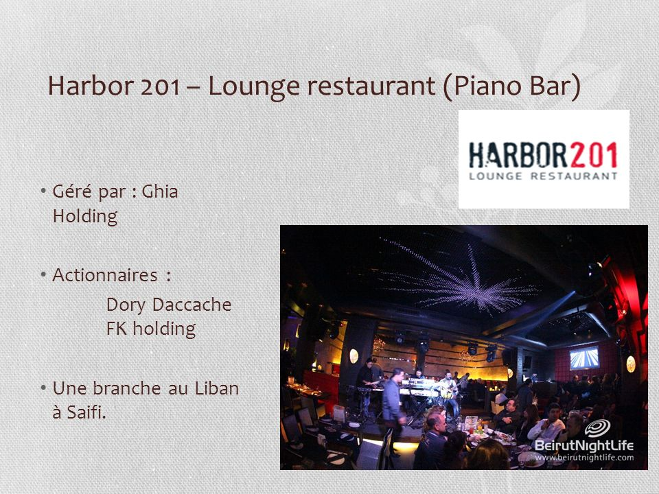 Harbor 201 – Lounge restaurant (Piano Bar)