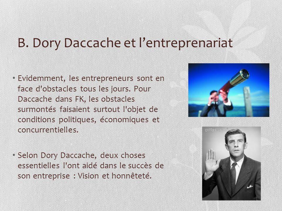 B. Dory Daccache et l'entreprenariat