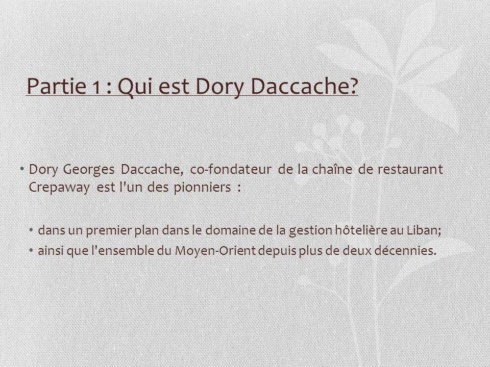 Partie 1 : Qui est Dory Daccache