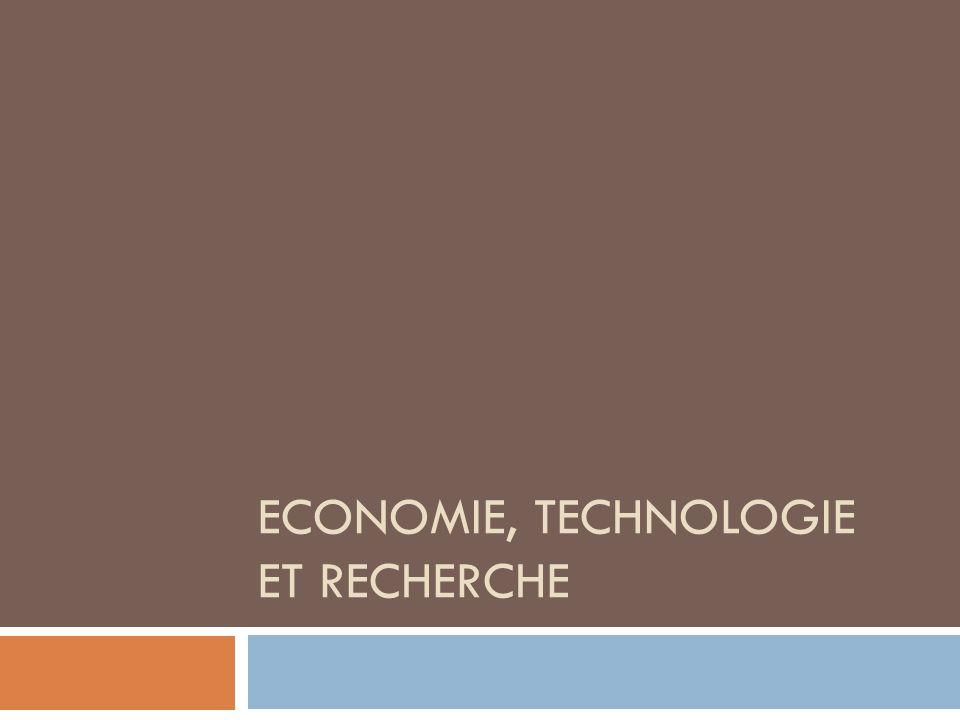 Economie, technologie et recherche