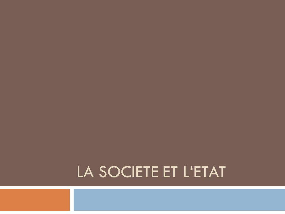 La societe et l'Etat