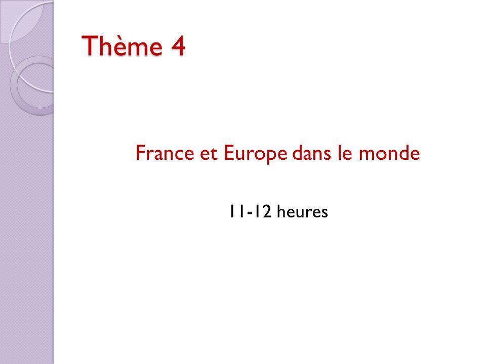 France et Europe dans le monde