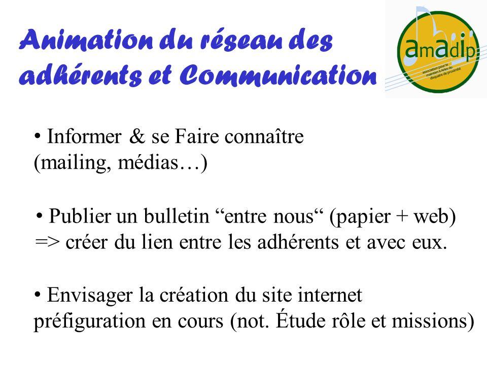 Animation du réseau des adhérents et Communication