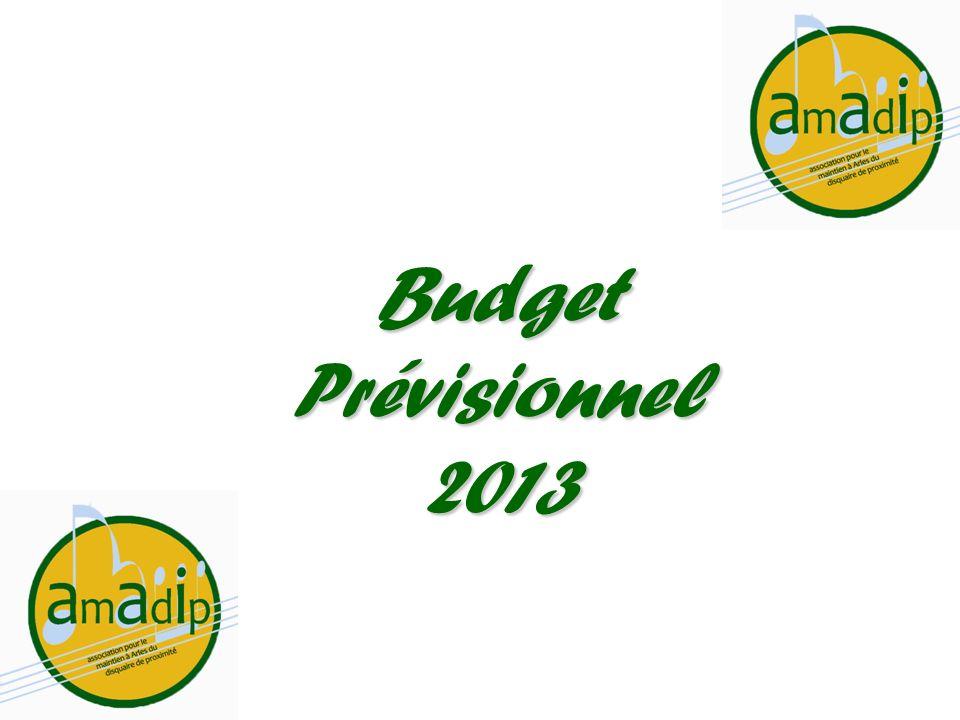 Budget Prévisionnel 2013