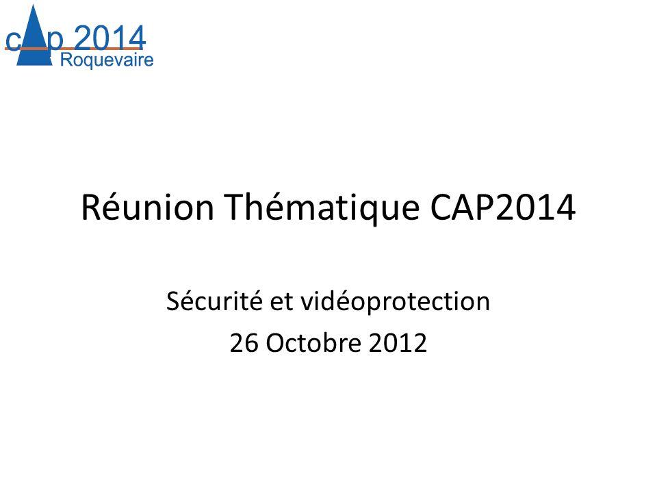 Réunion Thématique CAP2014