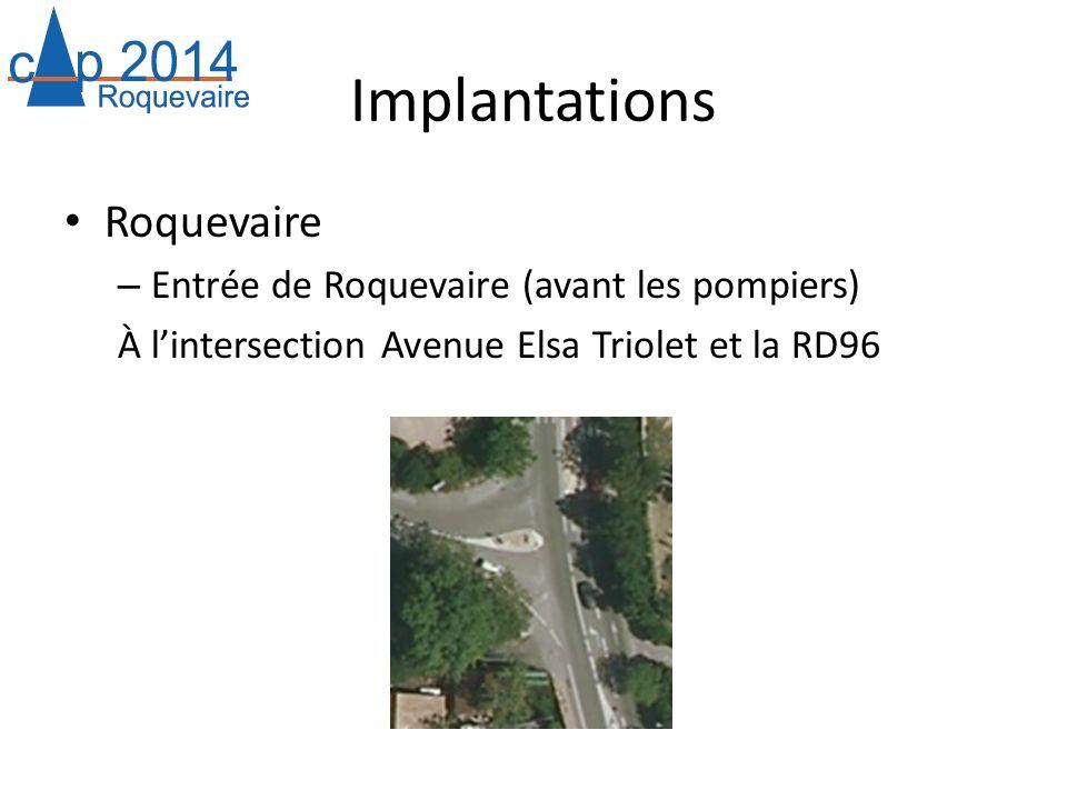 Implantations Roquevaire Entrée de Roquevaire (avant les pompiers)