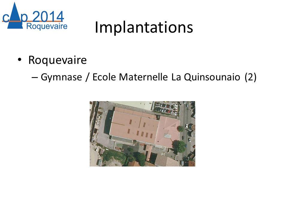 Implantations Roquevaire Gymnase / Ecole Maternelle La Quinsounaio (2)