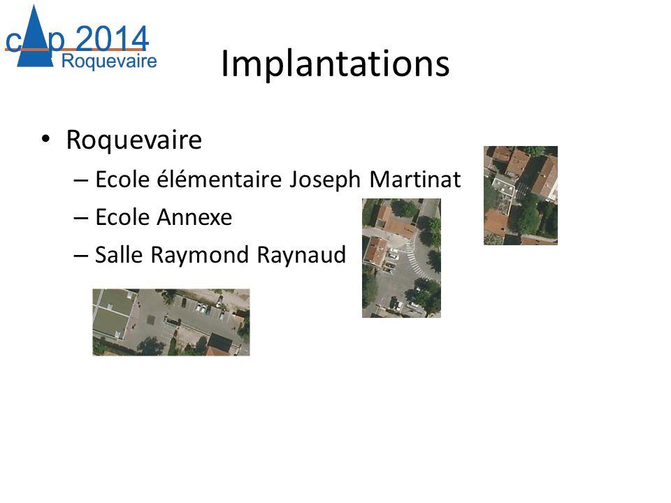 Implantations Roquevaire Ecole élémentaire Joseph Martinat