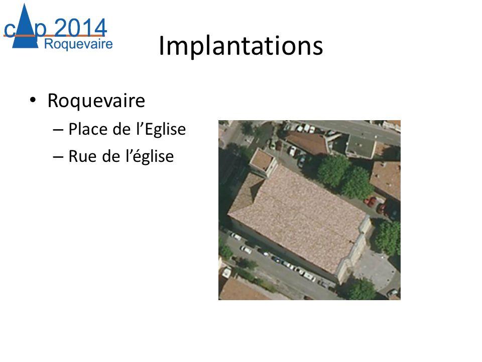 Implantations Roquevaire Place de l'Eglise Rue de l'église