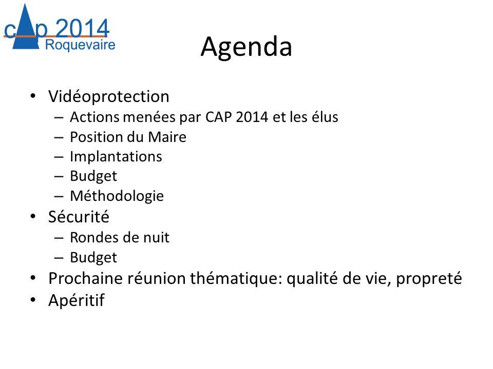 Agenda Vidéoprotection Sécurité